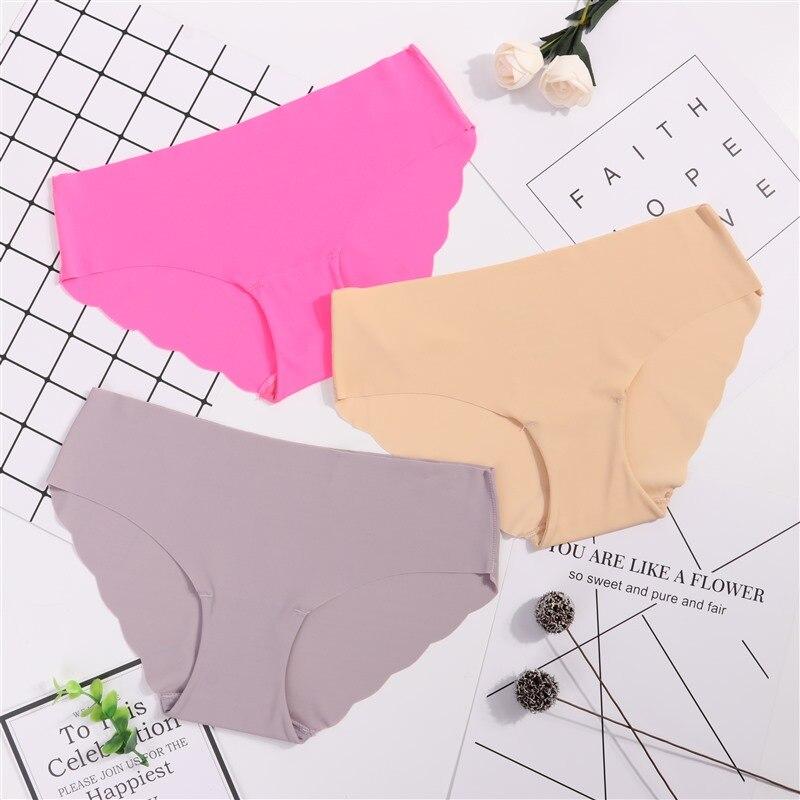 3Pcs/lot Seamless   Panty   Set Underwear Female Comfort Intimates Fashion Female Low-Rise Briefs 6 Colors Lingerie Drop Shipping