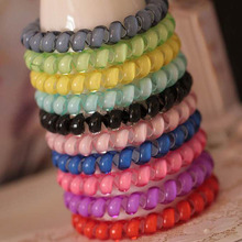 цены Hair Accessories For Women Head Band Telephone Cord Phone Strap Plastic Hair Band Rope Hair Ties Headbands Rubber Bands