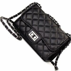 Женская сумка-мессенджер с ромбовидной решеткой для женщин, брендовая мини-сумка с клапаном, вечерняя сумка через плечо с ромбической цепоч...