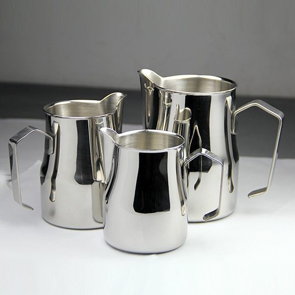 FeiC 1pc 350ml/550ml/750ml Motta Style  Stainless Steel Milk Pitcher/Jug Milk Foaming Jug/Teflon For Barista Latte Art