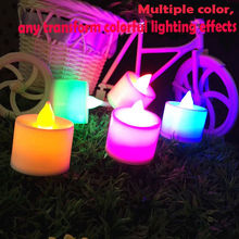 Electronic Candle LED Light Mini Colorful Romantic Smokeless Flameless Candle Lamp Wedding Birthday Party Christmas