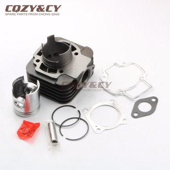 70cc Cylinder & Piston Kit & Gasket for PIAGGIO Diesis Fly 2 Liberty Rst Nrg Power Dt 50 Typhoon Zip 50 Vespa Lx 50 2T 47mm/12mm