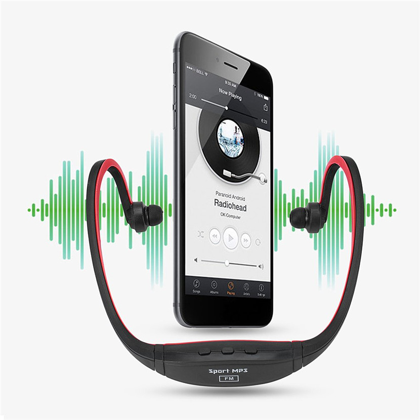 2GB Sports Professional Wireless Running Playing Outdroor Headphone MP3 Music Player Headset Headphone Earphone TF Card Slot sports wireless bluetooth stereo headset with fm tf card mp3 music player headphone