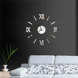 Зеркальные настенные часы цифровые настенные часы современный дизайн большие 3D часы настенные украшения дома reloj de pared duvar saati
