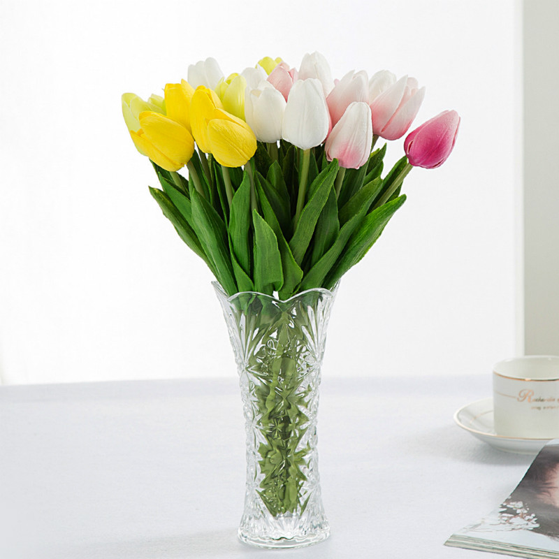 buy hot sale tulip artificial flower real touch pu bouquet for home decoration. Black Bedroom Furniture Sets. Home Design Ideas