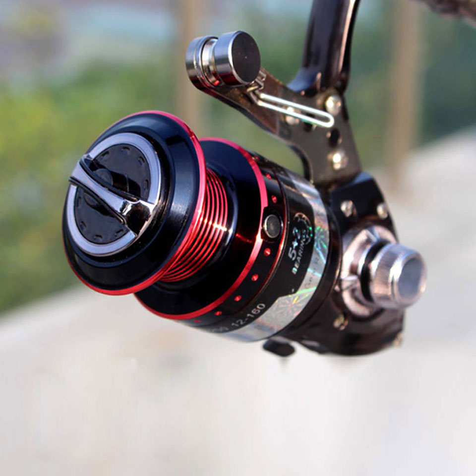 Powerful Fishing Reel 5+2BB Centrifuge Rotor Gapless Left-right Interchangeable Feeder bait casting fishing wheel