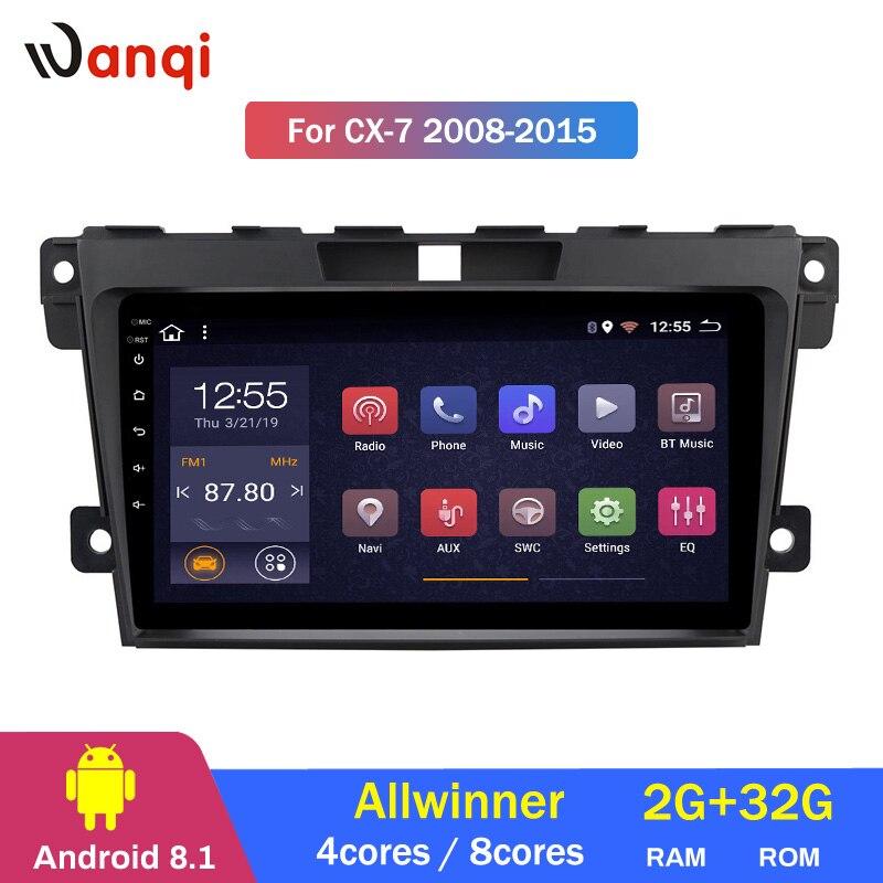 2G RAM 32G ROM autoradio multimédia android 8.1 lecteur vidéo Navigation GPS pour Mazda Cx-7 cx7 cx 7 2008-2015