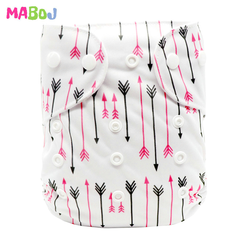 MABOJ Diaper Baby Pocket Diaper Washable Cloth Diapers Reusable Nappies Cover Newborn Waterproof Girl Boy Bebe Nappy Wholesale - Цвет: PD5-5-30
