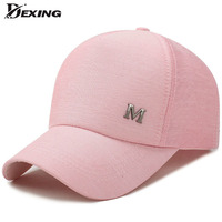 Dexing 2017 New Metal Letter M Pink Classic Women Baseball Cap Ladies Youth Snapback Casquette