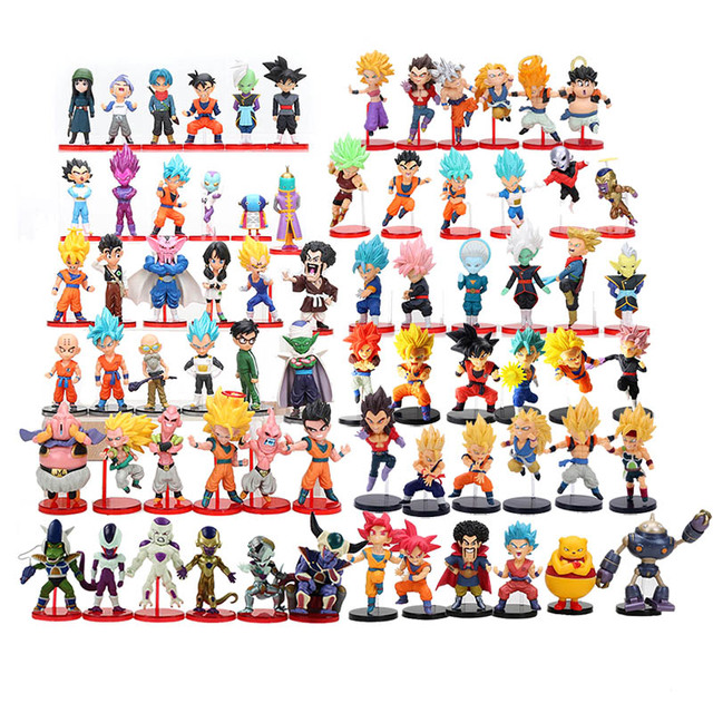 Us 10 14 20 Off 6pcs Set Dragon Ball Z 8cm Son Gohan Son Goku Majin Buu Kale Jiren Cell Frieza Gotenks Broly Piccolo Beerus Wcf Figure Model Toy In