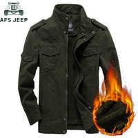 AFS JEEP grueso cálido invierno chaqueta militar Cargo polar masculino Casual Fuerza Aérea chaqueta de vuelo de talla grande 5XL 6XL Chaquetas hombre