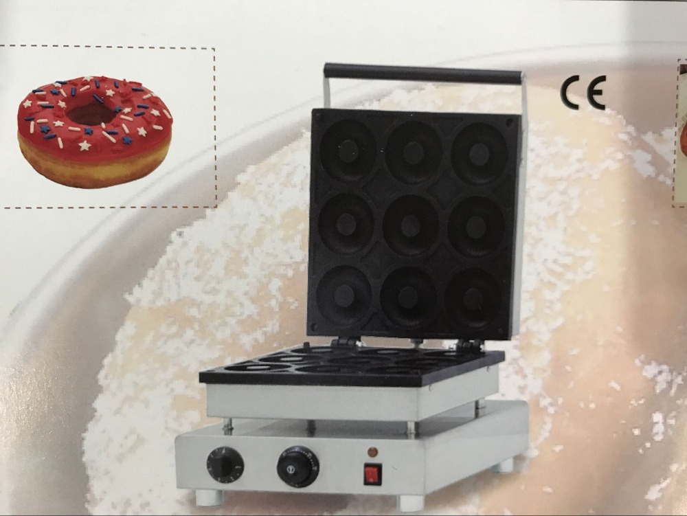 free shipping Cost Big donut maker 90MM diameter for commercial use waffle maker