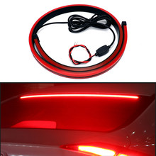 90cm Flexible Car LED Light High Mount Stop Rear Tail Warning Strip Interior Lights Auto Third Additional Brake Lamp Car Styling(China)