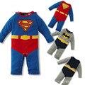 2016 Outono roupa do bebê Recém-nascido Romper manga longa, New Criança Bebes Superman Macacão de Algodão Macacão Macacão de Bebê roupas