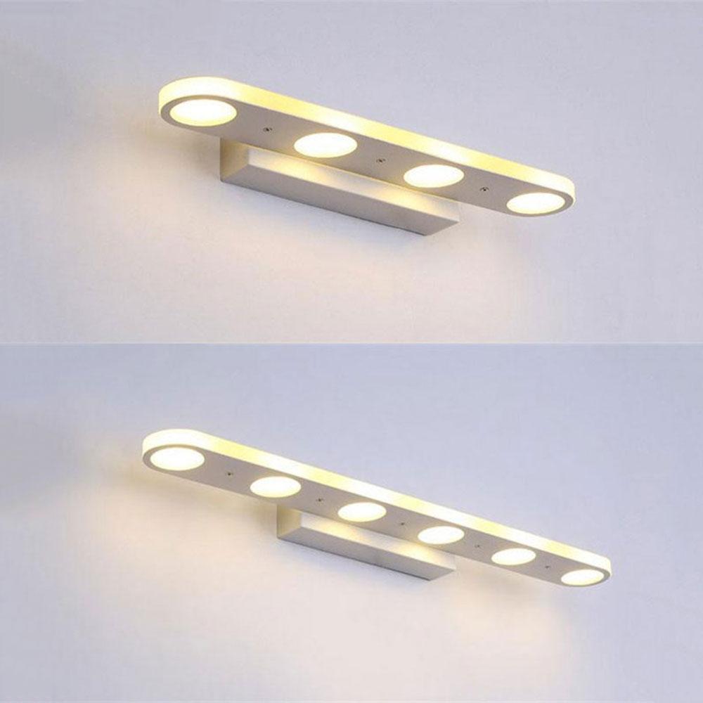 novedad iluminacin carcasa blanca llev la luz delantera de espejo de metal bao tocador gabinete de