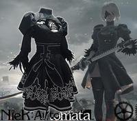 2B Cosplay NieR:Automata YoRHa No.2 Type B Black Dress Cosplay Nier Automatas 2B Halloween Costume Women Dresses