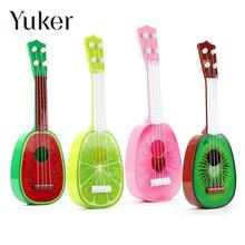 Yuker Children Learn Guitar Ukulele Mini Fruit Can Play Musical Instruments Educational Toys