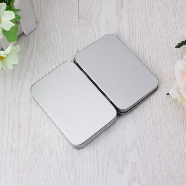 2018 NEW Delicate Small Metal Tin Silver Flip Storage Box Case Organizer  Clear Coin Candy Key
