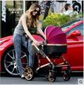2016 Boa qualidade Sld luz dobrável carrinho de bebê carrinho de bebê ploughboys controle fácil sentar e deitar 4 runner two-way amortecedores
