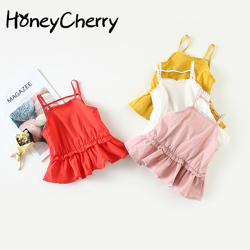 2018 girl's Sling Dress Sexy Lace Cotton Summer New Baby Vest Princess dress Baby Girl Clothes Flower Girl Dresses