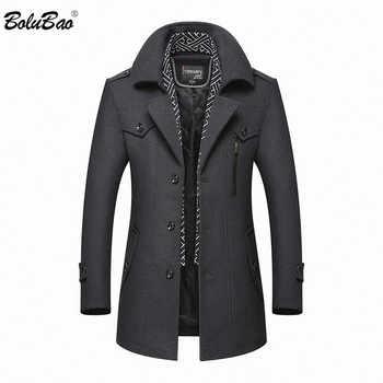 BOLUBAO Men Winter Wool Coat 2020 Men\'s New Casual Brand Solid Color Wool Blends Woolen Pea Coat Male Trench Coat Overcoat - DISCOUNT ITEM  45 OFF Men\'s Clothing