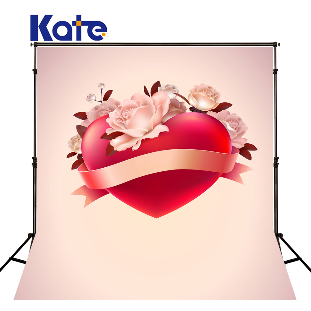 KATE 5x7ft Valentine'S Day Background Photography Backdrops Pink Flower Wedding Backdrop Newborn Photo for Children Studio 8x10ft valentine s day photography pink love heart shape adult portrait backdrop d 7324