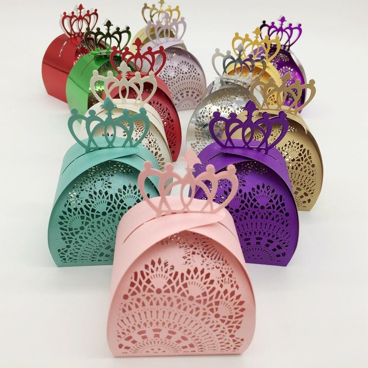 Candy Box Bag Chocolate Paper Gift Box Vintage Design Lace For