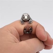 Купить с кэшбэком Vintage Sloth Rings Fashion Retro Style Adjustable Bradypus Rings For Women Men Folivora Jewellery Bradypodidae Jewellery