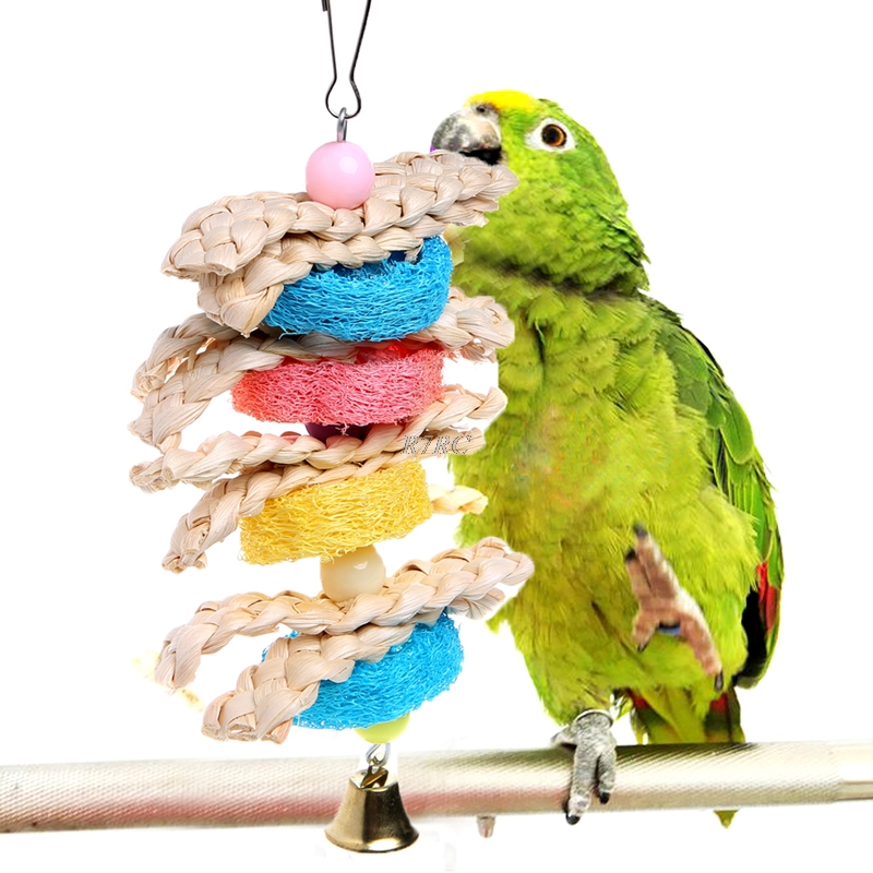 Pet Bird Parrot Parakeet Budgie Cockatiel Cage Chew Bites Swing Toys Hanging Toy