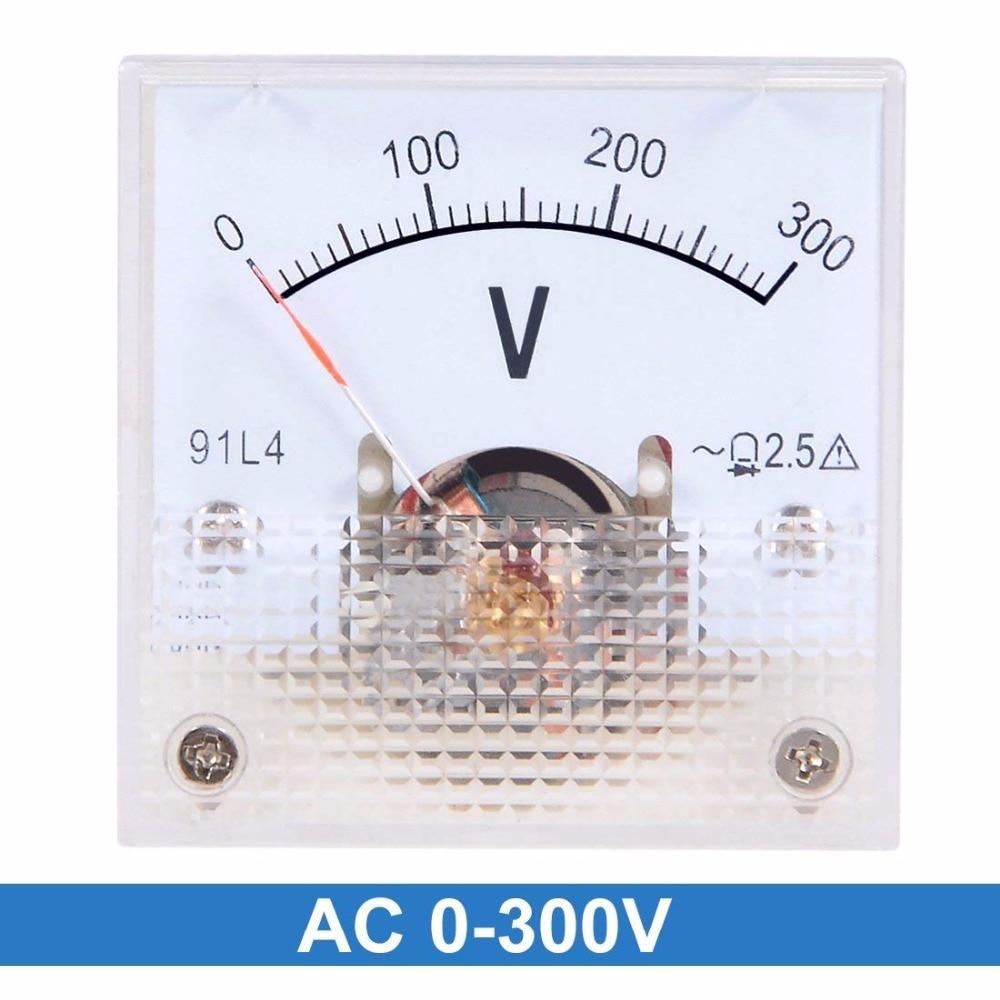 91L4 AC 0-300V 150V 250V 450V Analog Panel Volt Voltage Meter Voltmeter Gauge AC 0-300V