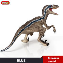 Oenux New Jurassic Dinosaur Velociraptor Raptor Blue Open Mouth T-Rex Action Figures PVC Dinossauro Animal Model Toy Kids Gift(China)