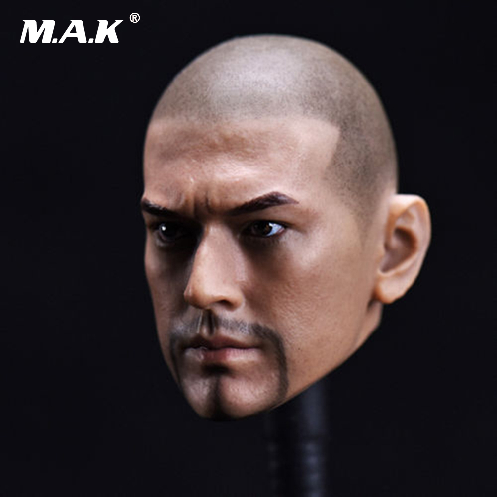 1/6 Scale Male Head Carving Bald Head Takeshi Kaneshiro Head Sculpt PVC Head Model for 12'' Action Figure Body 1 6 scale european male head sculpt model headplay without neck for 12 action figure body figure