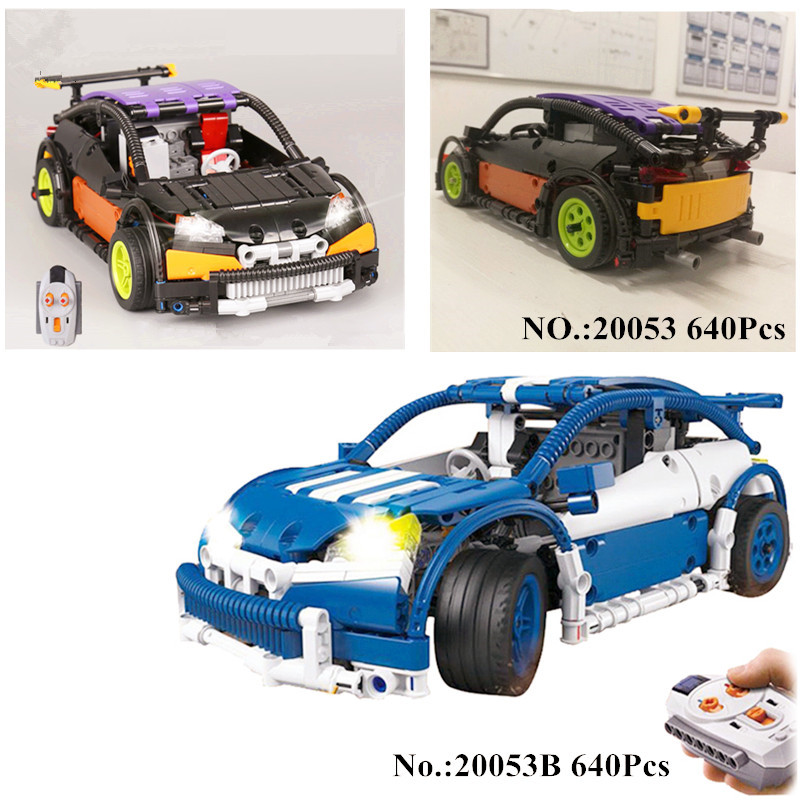 H&HXY IN STOCK 20053 640PCS Genuine Technic Series The Hatchback Type R Set MOC-6604 Building Blocks Bricks lepin Toys Boy Model lepin 20053 genuine new technic series the hatchback type r set moc 6604 building blocks bricks educational toys boy gifts model