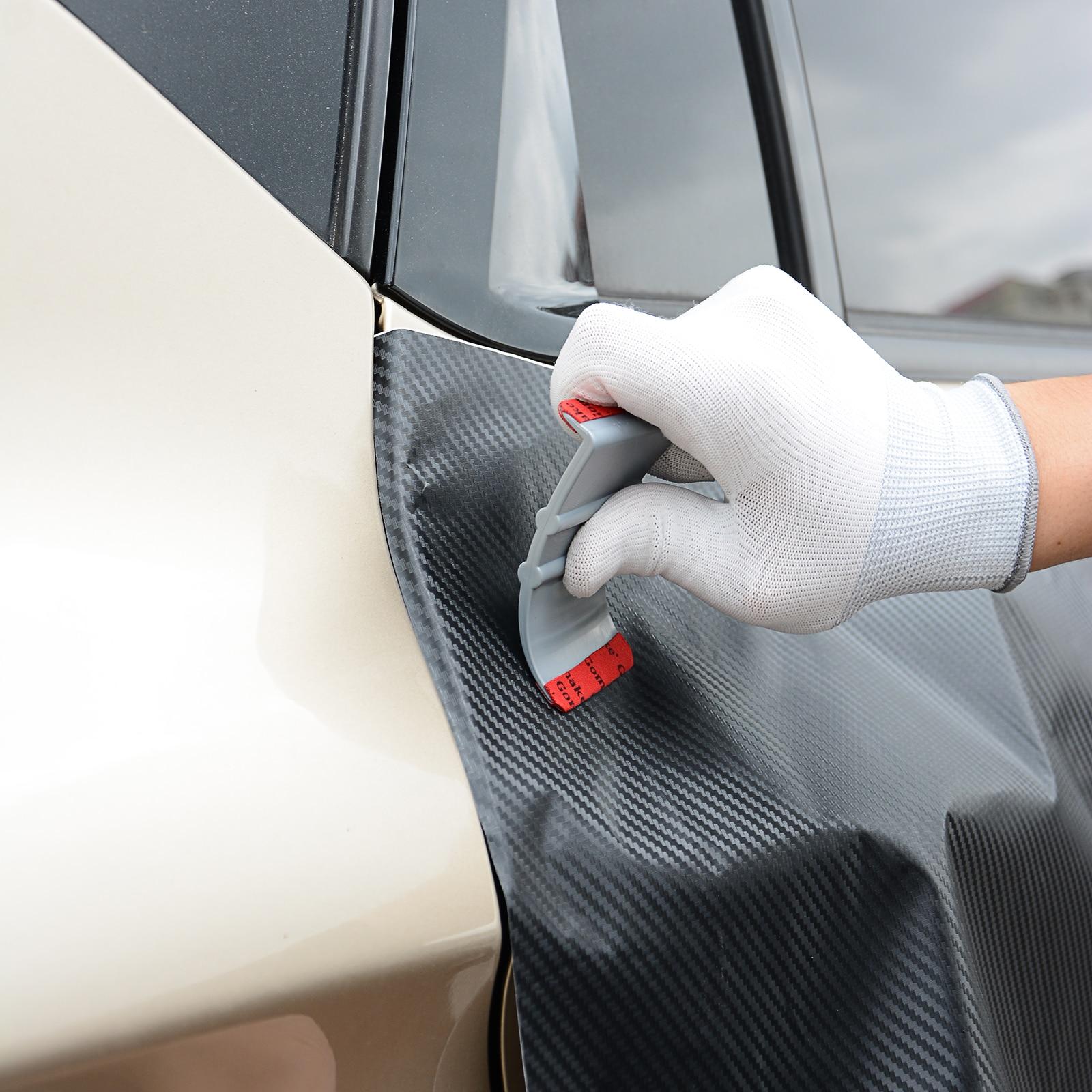 Image 3 - FOSHIO 90 Degree Vinyl Car Wrap Microfiber Squeegee Edge Scraper Carbon Fiber Film Stickers Wrapping Tool Auto Window Tint Tools