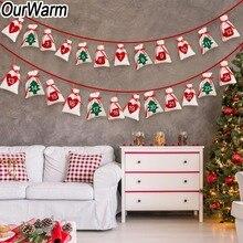 OurWarm Рождественский Адвент календарь 11x16 см подарочный пакет DIY фетровый обратный отсчет календарь гирлянда Дата 1-24 1-31 новогодний Рождественский Декор