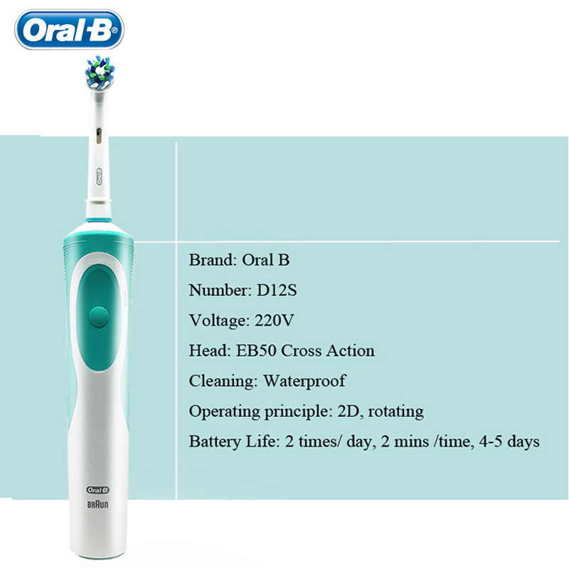 Electric Toothbrush Oral B Vitality Adult Rechargeable Toothbrush Replacement Teeth Brush Heads Imported from German