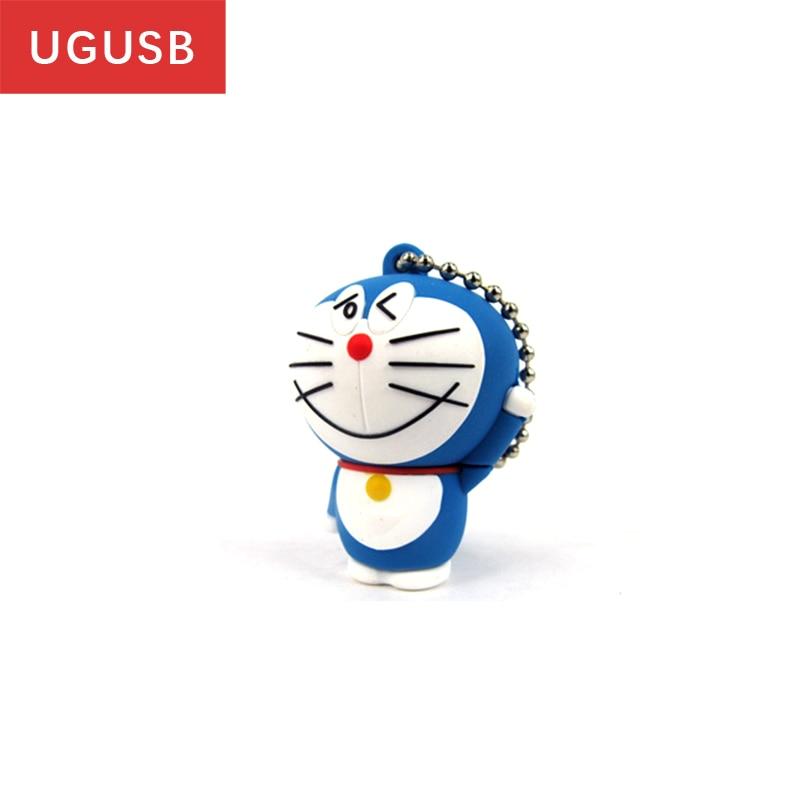 Classic cartoon Doraemon Pendrive personalized PVC Usb flash drive Pen drive Usb memory stick thumb Usb disk 16GB hot cute gift