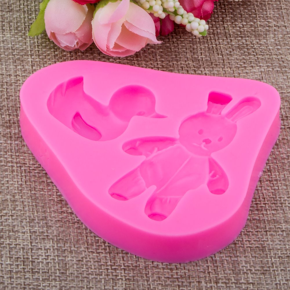 Rabbit Duckling Fondant cake silicone mould Kitchen for pastry candy Gum paste Chocolate Trim molding removal tool set FT-0937