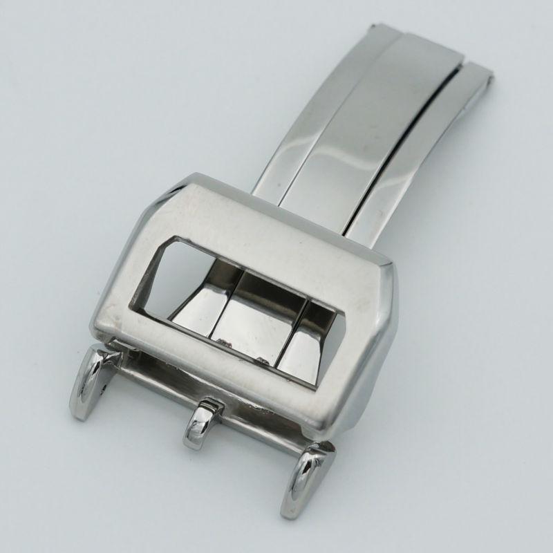 Prix pour MAIKES 316L Acier Inoxydable Montre Fermoir 18mm Brossé Déploiement Bracelet Boucle Pour IWC Big Pilot Montre de Courroie De Bande