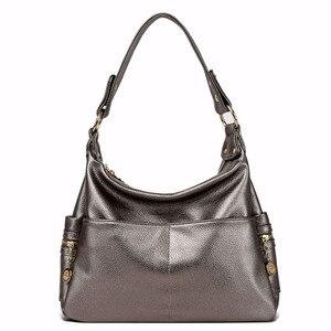 Image 2 - جلد طبيعي ريترو المرأة حقيبة السيدات حقيبة/حقيبة كتف المرأة Crossbody حقيبة ساعي حقائب اليد النسائية