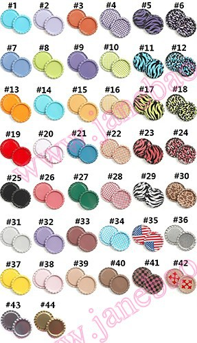 free shipping 500pcs colored 1 inch 25mm flattened bottle caps diy hairbow hair bows necklace accessories
