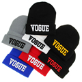 2016 New Fall Fashion Unisex Adult Letter VOGUE Beanies Caps For Men Casual Skull Mask Knitted Winter Hats For Women