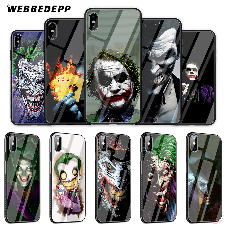 Cellphones & Telecommunications Intellective Webbedepp Poker Joker Novelty Tempered Glass Phone Case For Apple Iphone Xs Max Xr X 8 7 6s Plus 5s Se Superior Performance