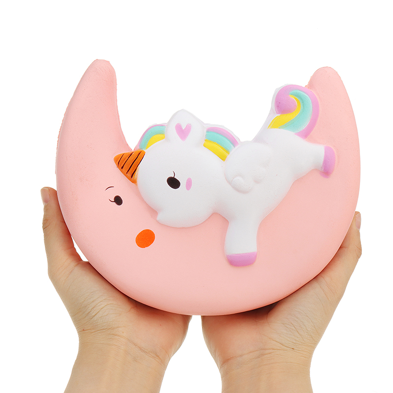 Dependable Kids Funny 16cm Animal Moon Narwhale For Squishy Slow Rising Toy Rebound Soft Squeeze Sweet Cream Scented Bread Cake Toys Gift Fast Color Cellphones & Telecommunications