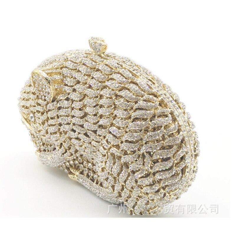 Sacs de soirée de mode pour femmes brillant diamants sac à main dames or Mini sacs à main strass pochette sac à main de fête de mariage portefeuille - 6