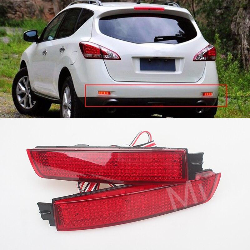 For Nissan Juke/Murano/Infiniti FX35/FX37/FX50 2Pcs/set LED Bumper Reflector Red Stop Tail Brake Light Lamp Brand New Wholesale