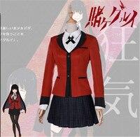 Anime Kakegurui Yumeko Jabami Cosplay Costumes Japanese School Girls Uniform Full Set jacket+shirt+skirt+tie