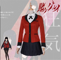 Anime Kakegurui Yumeko Jabami Cosplay Costumes Japanese School Girls Uniform Full Set jacket+shirt+skirt+tie