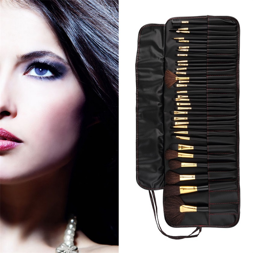 High Quality Hot Selling 32 Pcs Professional Cosmetic Makeup Brush Kit Brushes Tools Make Up Case