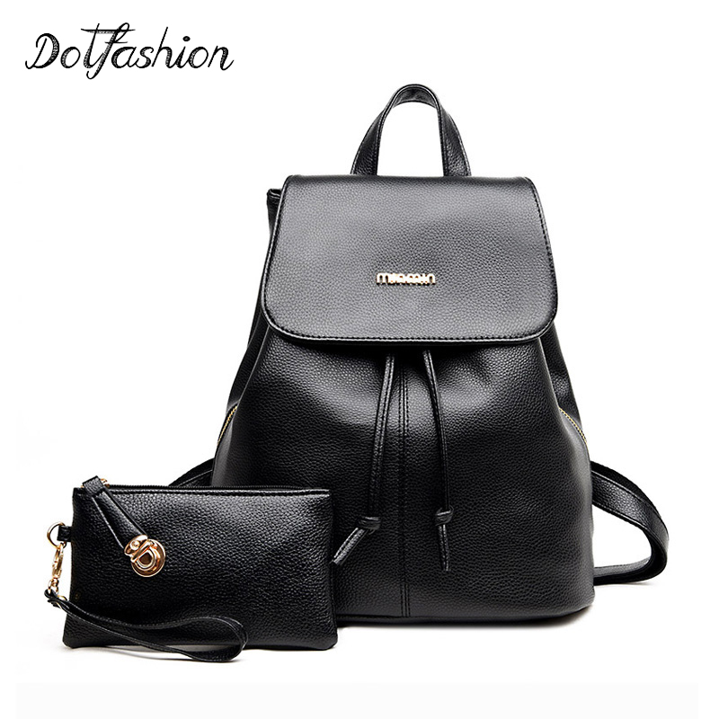 Backpack Womens 2017 Backpack School Bag For Teenagers Girls Fashion Shoulder Bags Pu Leather Purses Lady